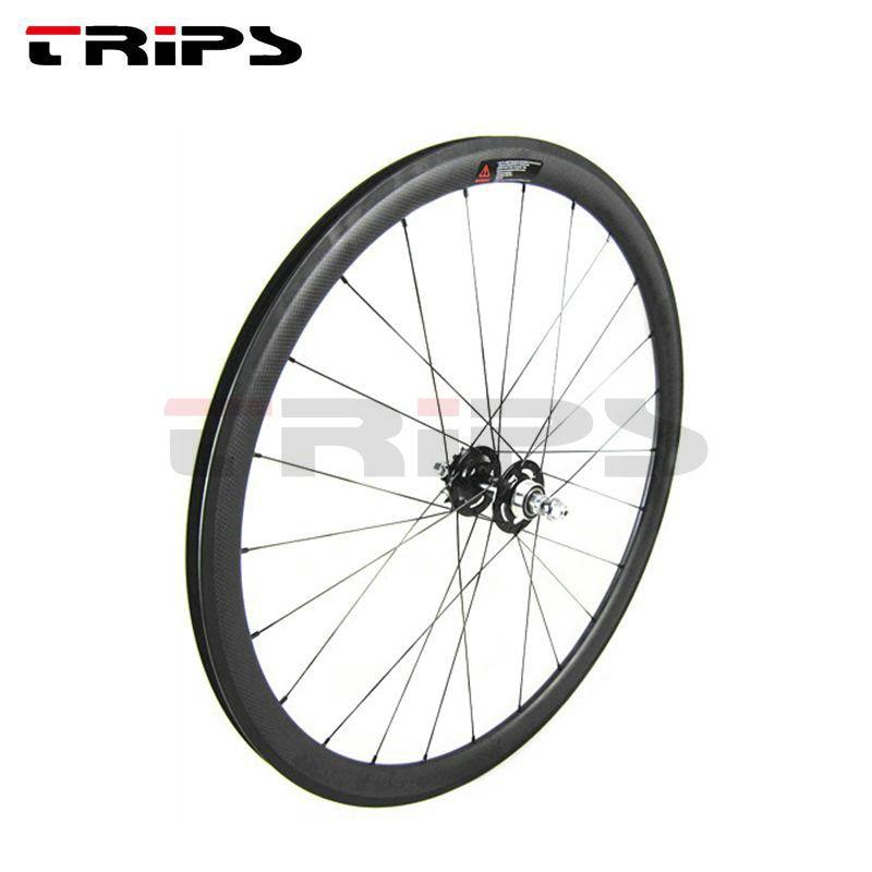 pair set wheelset fixed bike 28 700c chrome 45mm single speed fixed gear
