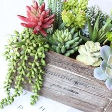 Различные искусственные суккуленты Лотос пейзаж декоративный цветок Мини зеленый поддельные суккуленты растение украшение сада