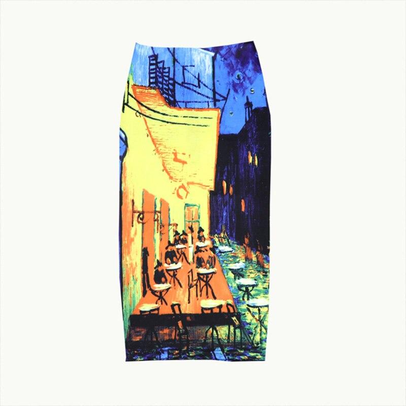 Damska ulica miasta spódnica ołówkowa drukuj wysokiej talii Bodycon graficzne spódnice pani lato Sexy japonia Spodnica Falda kobieta SP617 1