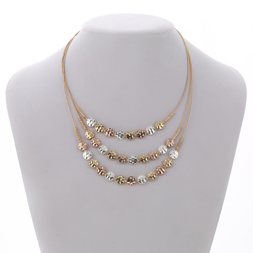 Ethnic Coins Necklace Women Rose Gold Round Chokers Statement Necklace Multilayer Vintage Jewelry