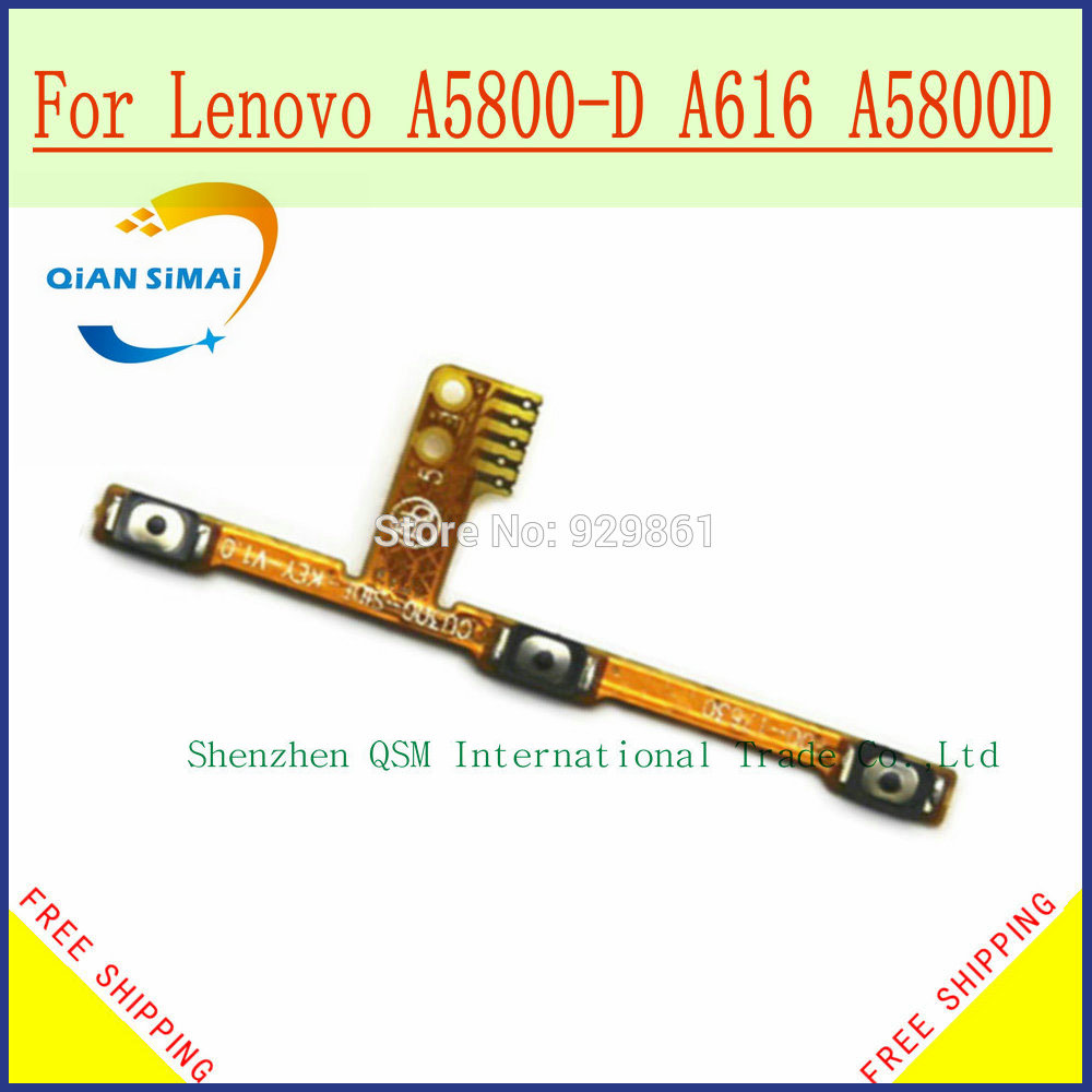 QiAN SiMAi New Original power on/off & Volume up/down Buttons Control Key flex cable For <font><b>Lenovo</b></font> A5800-D <font><b>A616</b></font> A5800D Mobile phone image