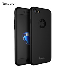 IPAKY Original 360 Case For iPhone 7/ 7 Plus PC Full Body  Cover + Tempered Glass Screen Protector Luxury