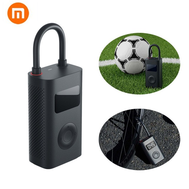 In Stock New Xiaomi Mijia Portable Smart Digital Tire Pressure Detection Electric Inflator Pump For Bike