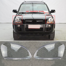 Mayitr 1 Pair Car Headlight Clear Lens Cover Headlamp Housing For HYUNDAI TUCSON 2005 2006 2007 2008 2009 possbay car headlight lenses headlamp lens for mercedes benz e class w211 2003 2004 2005 2006 2007 2008 2009 clear lampshade
