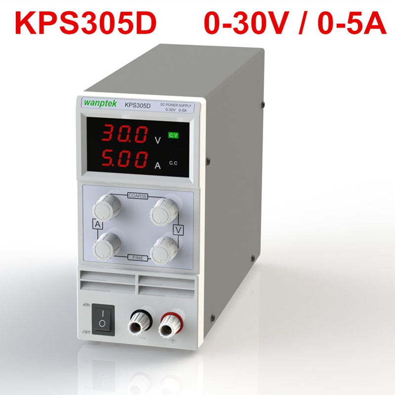 New Updated KPS305D Mini Switching Regulated Adjustable DC Power Supply SMPS Single Channel 30V 5A