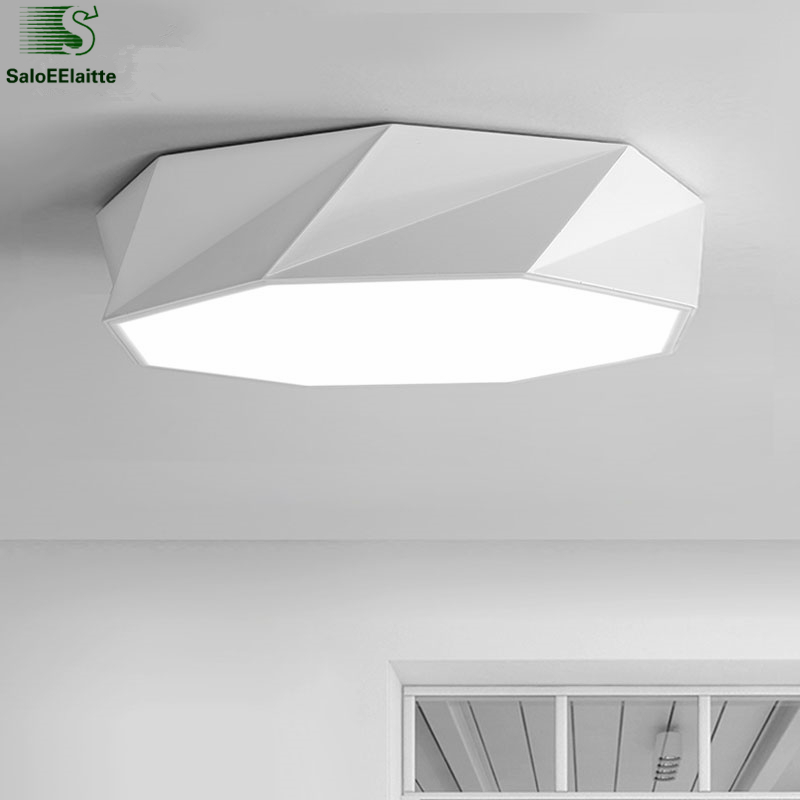 Minimalism Geometric Stepless Dimmable Led Ceiling Lamp Metal Acrylic Mask Led Ceiling Light For Indoor Lighting Fixtures