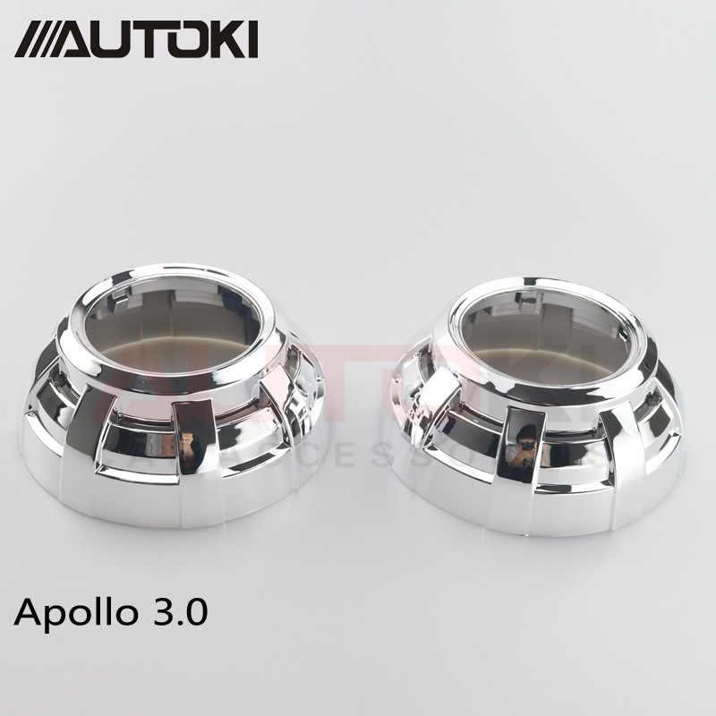 3 polegadas escondeu lente do projetor xenon bi casos Capa Protetora resistente de alta temperatura Apollo 3.0 Máscara para lente do projetor