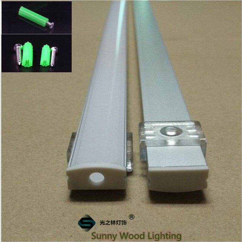 10set lot 2m 80 inch length led aluminium profile for led bar light led strip aluminum