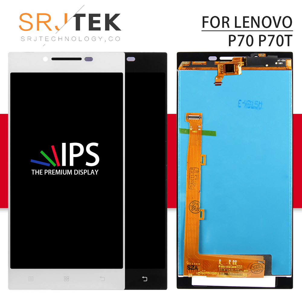 Srjtek screen For Lenovo P70 Glass LCD Display Touch Digitizer Glass Assembly With Frame for Lenovo P70-T P70T P70A 5.0 1280*720Srjtek screen For Lenovo P70 Glass LCD Display Touch Digitizer Glass Assembly With Frame for Lenovo P70-T P70T P70A 5.0 1280*720