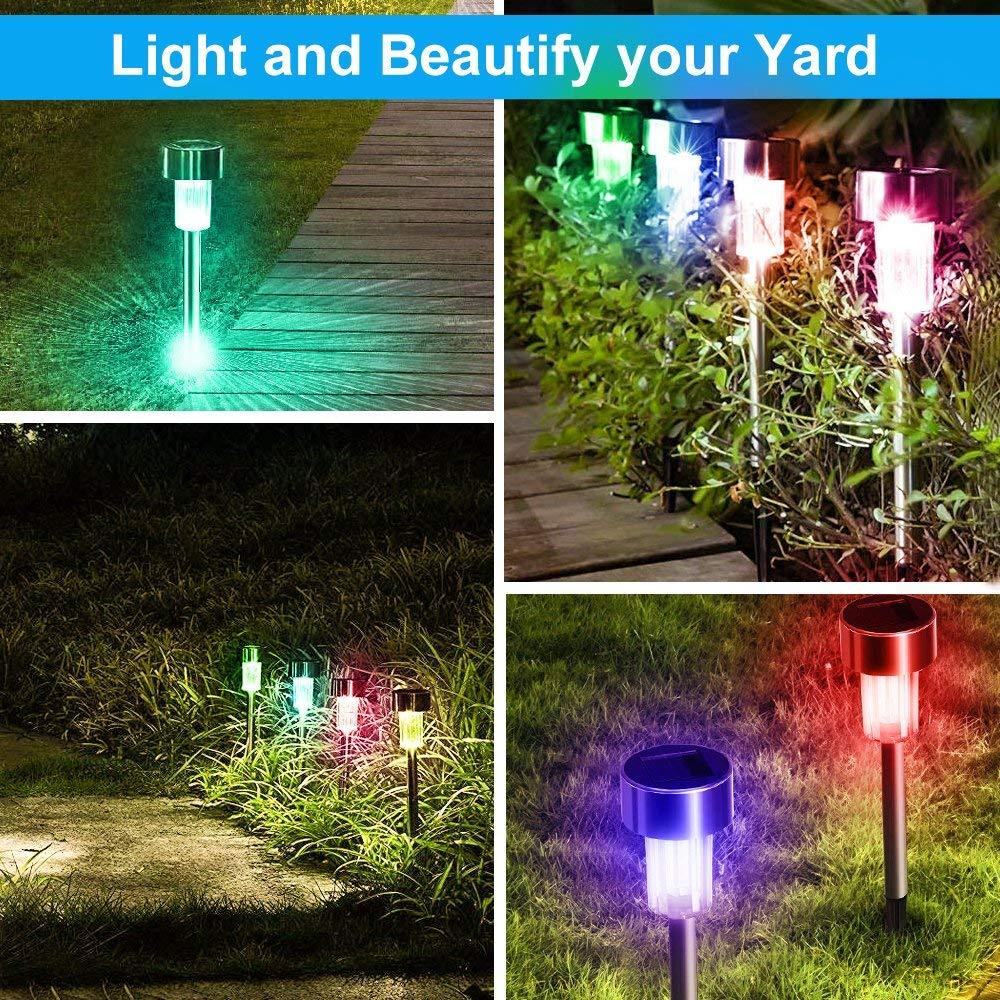 Solar Garden Lights Waterproof Outdoor Lawn Lamps Garden Yard Pathway Landscape Solar Lights Holiday Party Decoration (15)