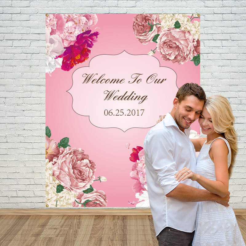 Allenjoy vinyl backdrops for photography backdrop pink flower sweet wedding  background props newborn fabric space 10ft*20ft allenjoy photography backdrops love pink romantic background photography wedding backdrop for valentine s day