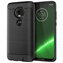 for motorola moto g7 plus case silicone carbon fiber cell phone anti knock solid color cases