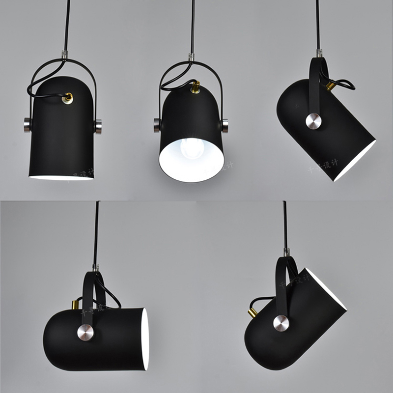 Nordique Minimalisme droplight Angle réglable E27 petit pendentif lumières, décoration d'intérieur lampe d'éclairage et Bar Vitrine spot light - 6