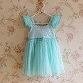 Розничная 2016 детские платья девушки платье, партия принцессы детские девушки платье, дети благородного фея детская одежда vestidos де menina