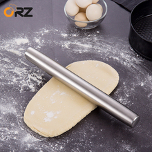 35cm Rolling Pin Metal Dough Fondant Cookies Pizza Kitchen Baker Roller Non Stick Stainless Steel Decorating