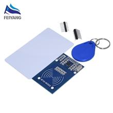 10 sztuk MFRC 522 RC 522 RC522 antena RFID IC moduł bezprzewodowy dla Arduino IC klucz SPI Writer czytnik karta elektroniczna moduł zbliżeniowy