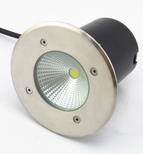 15W COB LED Underground Light AC85-265V Garden Buried Lamp IP68 Cool White Warm Surface Oxidating Free Shipping