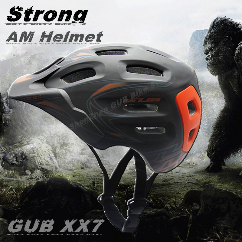 Strong AM GUB XX7 Helmet Ultralight 18 Vents Sports Cycling Helmet with Visor Mountain Road MTB Bike Bicycle Helmets new am xc off road bicycle helmet