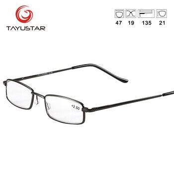Pen Reading Glasses Men Metal Computer Lens Reading Glasses Women Anti Blue-Ray Reader Pocket Slim Lesebrille GafasT0389