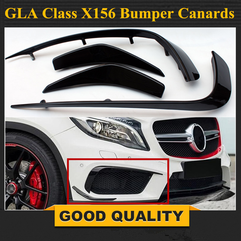 Rear Spoiler Canard Air Vent Cover Trim For Benz GLA250//GLA45 AMG Glossy Black