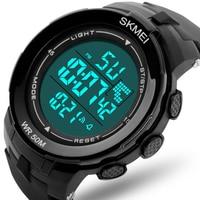 SKMEI 50m Swim Digital Watch Men Sport Super Cool Men's Quartz Sports Watches Luxury Brand LED Military Wristwatch Male xfcs