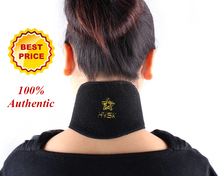 Upscale 100% authentic imported OK cloth far infrared tourmaline self-heating neck guard Magnetic Therapy Cervical Treatment