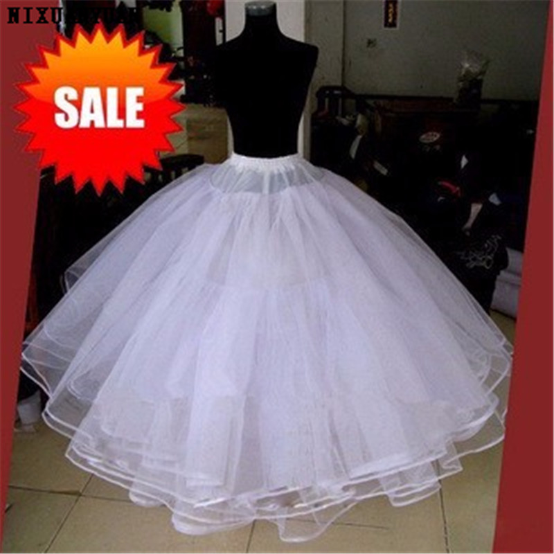 Best Sell White 3 Layers Wedding Accessories For Wedding Dress Tulle Dress Skirt Ball Gown Petticoat 2019 Skirt No Hoops