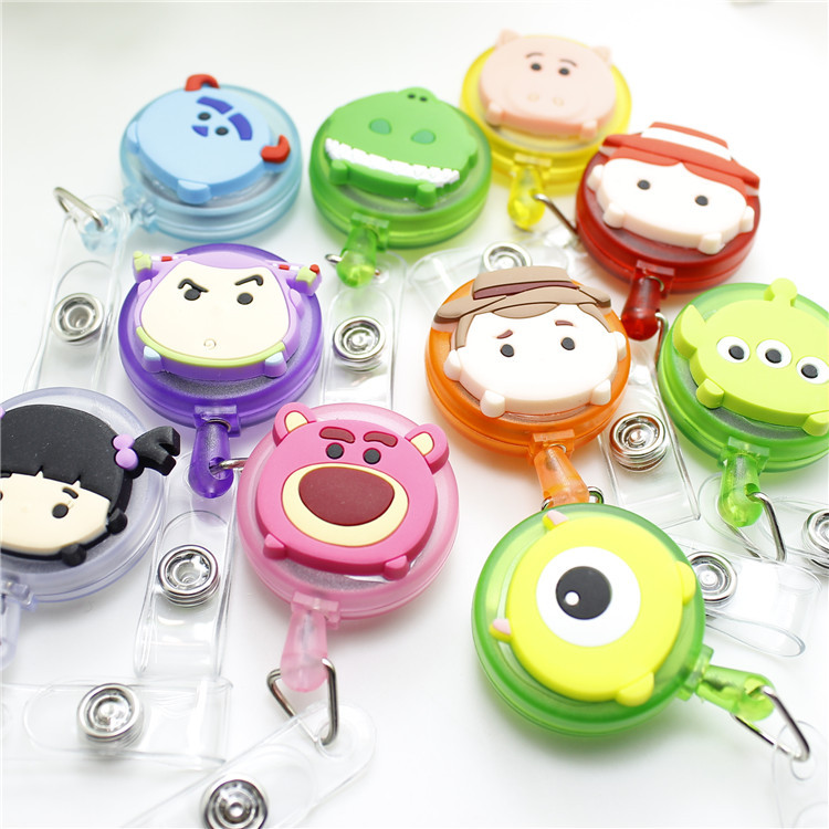 Toy Story  Retractable Badge Reel High Quality Silicone Cartoon Student Nurse ID Name Card Badge Holder Office Supplies