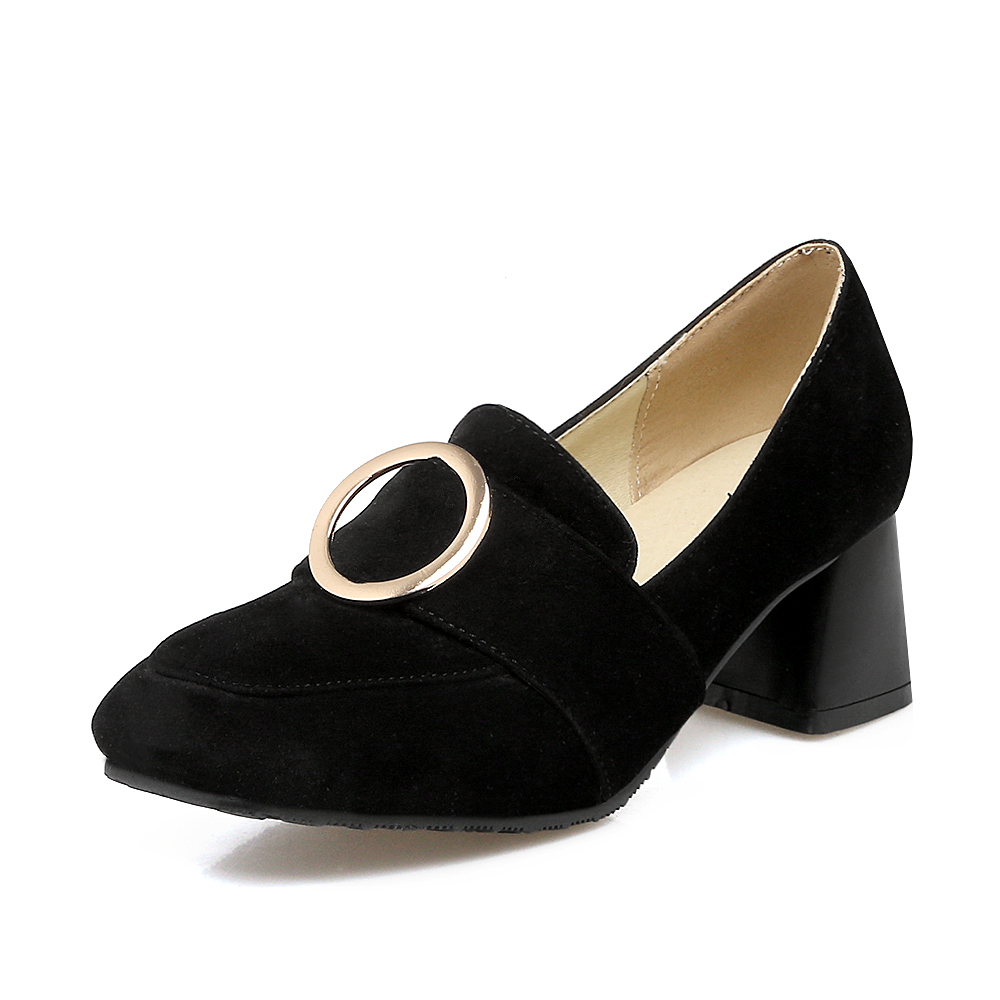 ФОТО Plus Sale Big and Small 29-47 Size Simple fashion shoes 5 Colour New Spring Autumn Women's Pumps Women Shoes  Square Toe 7563