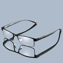 Очки для чтения из титанового сплава, женские, не сферические, 12 слойные линзы с покрытием, ретро, бизнес, дальнозоркость, Рецептурные очки для мужчин