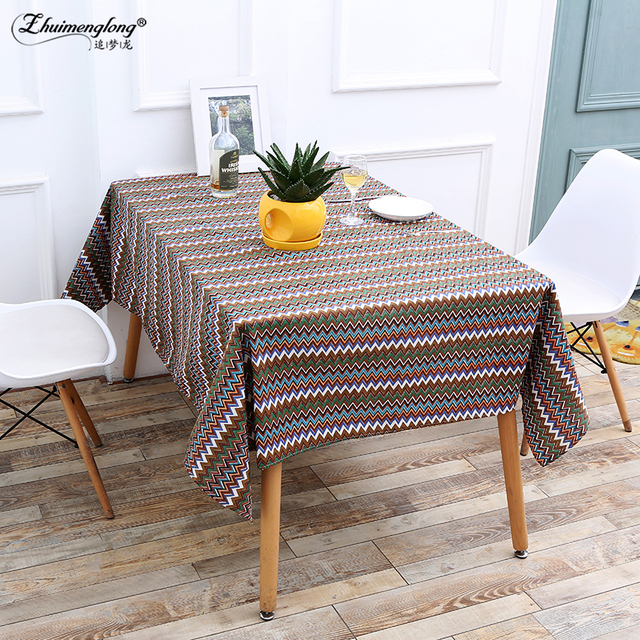 Zhuimenglong Linen Cotton Table Cloth Coffee Table For Garden Tables Covers  Party Kitchen Tablecloth Home Textile