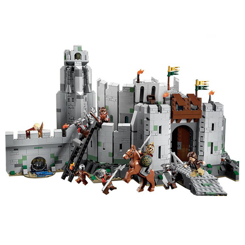 LEPIN 16013 The Lord of the Rings The Battle Of Helm's Deep Model Building Kit Block 1368Pcs Bricks Toys Gift For Children hot sale the hobbit lord of the rings mordor orc uruk hai aragorn rohan mirkwood elf building blocks bricks children gift toys
