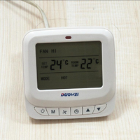 Free Shipping High Quality Room Temperature LCD Screen Digital FCU Thermostat For Air Conditioner