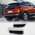 Für Peugeot 3008 5008 Allure Aktive 2016 2018 ABS Auto Zubehör Hinten Auspuff Schwanz Ende Rohr Ersatz Abdeckung 2 stücke Dachgepäckträger & Boxen    -