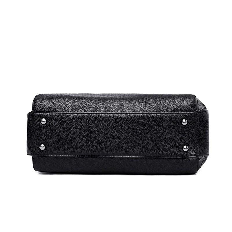 DIZHIGE Brand Elegant PU Women Handbag High Quality Crossbody Bag For Women Large Capacity Rivet Patchwork Shoulder Bag Tote New in Top Handle Bags from Luggage Bags