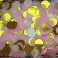 30g Por Saco de 1 polegada (2.5 cm) Cores Misturadas Rodada Papel Tissue Wedding Party Confetti Tabela Brilhante decorações