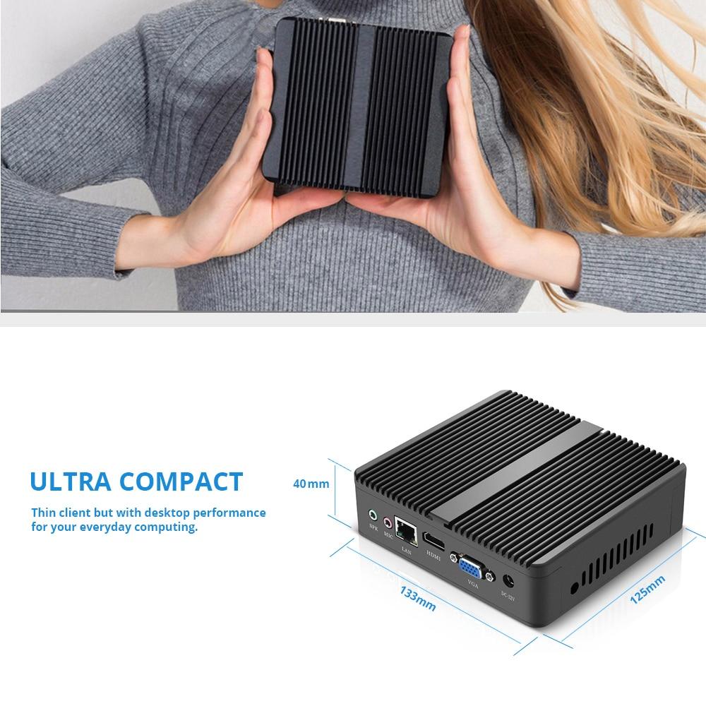 XCY Mini PC Windows 10 Intel Core i3 4010Y i5 4200Y i7 4610Y double coeur sans ventilateur Mini ordinateur de bureau HDMI VGA WiFi Nettop HTPC - 5