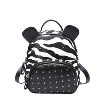 2017 Новая мода женский маленький рюкзак многофункциональный заклепки minibag Дамы сумка прекрасный рюкзак