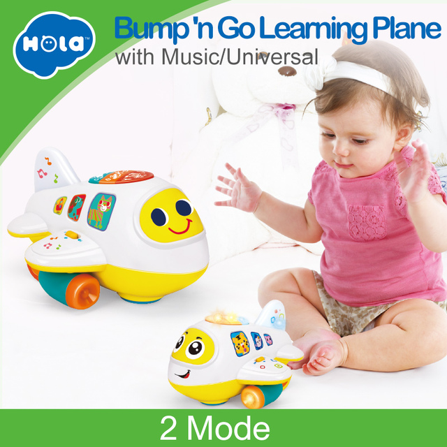 b4c2e2b6d HOLA 6103 Baby Toys Electronic Airplane Toy with Lights   Music Kids Early  Learning Educational Toy