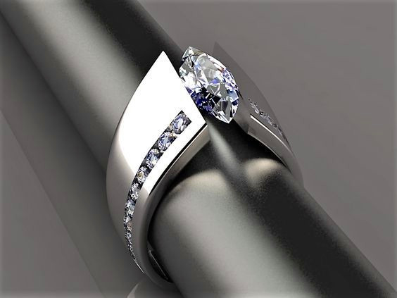 Stone Ring Engagement-Ring Zircon Silver-Color Vintage Women Female Luxury for 925 Unique-Style