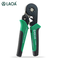 LAOA Taiwan Made Quadrilateral Ratchet Crimping Pliers European Terminal Crimping Pliers Cold Press Pliers Crimping Tools