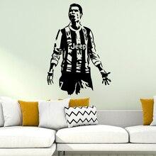 Cristiano Ronaldo Soccer Real Madrid FC vinyl decals Wall Art Decal Decoration Sticker Home Decor Children adesivo de parede