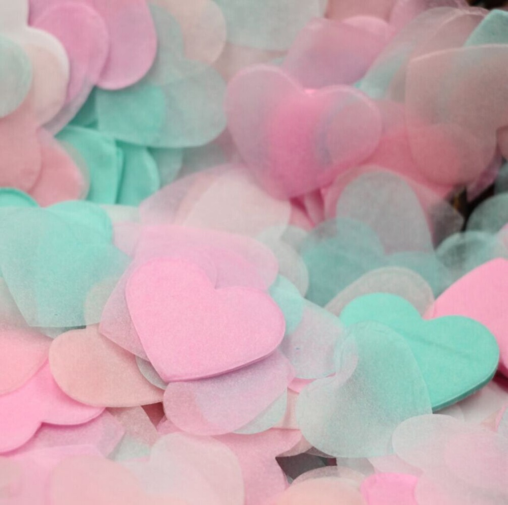 Aliexpress.com : Buy 6500pcs Heart Tissue Paper Confetti, Pinks Mint ...