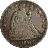 1857 Seated Liberty Dollar COINS COPY FREE SHIPPING
