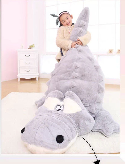 huge 200cm cartoon gray crocodile plush toy skin case , without fillings  soft throw pillow,Surprised gift w5174 lovely giant panda about 70cm plush toy t shirt dress panda doll soft throw pillow christmas birthday gift x023