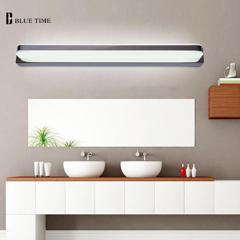 ФОТО 45cm/60cm/75cm/80cm/90cm/100cm/120cmStraight Type Bathroom Wall Light Mirror Front Lamp LED Wall Light Wall Mirror Bathroom Lamp