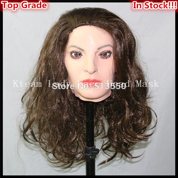 Free shipping Halloween Party Cosplay Brand New Realistic latex Adult Female mask full head Deluxe Female beauty Sex Lady MaskFree shipping Halloween Party Cosplay Brand New Realistic latex Adult Female mask full head Deluxe Female beauty Sex Lady Mask