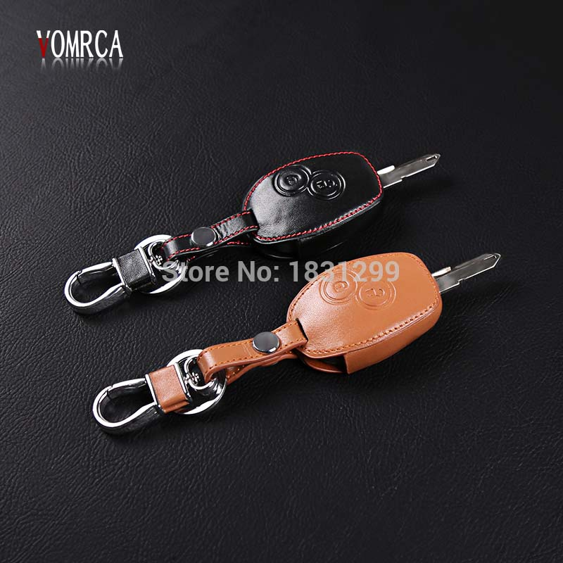 High Quality genuine leather car key cover for Renault Koleos Clio Scenic Megane Duster Sandero Captur ,2 buttons starline a93 hot car key protective holder case cover for renault koleos laguna 2 3 megane 1 2 3 sandero scenic captur clio duster fluence