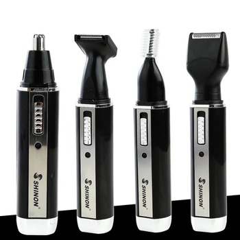 SH-2051 Multifunction 4 In 1 Electric Men Ear Nose Trimmer Rechargeable Portable Hair Clipper Shaver Beard Eyebrow Trimmer 2 in 1 unisex multifunction groomer beard ear nose hair trimmer electric shaving shaver clipper epilator 1pcs
