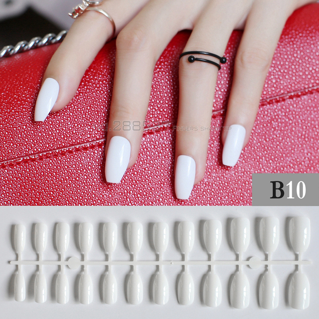 Aliexpress Buy White Full Nail Tips Simple Office Comfortable